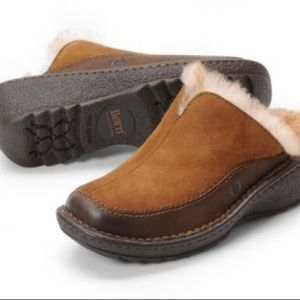 Born Theda shearling leather mule size 8
